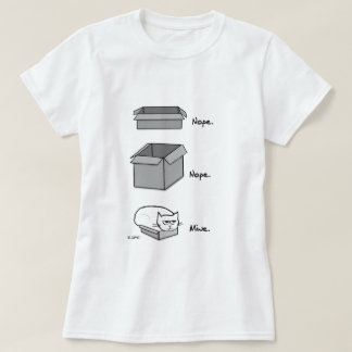 Angry Cat Totally Fits in this Box T-shirt