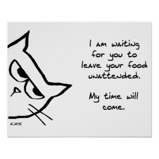 Angry Cat Waits For His Chance - Funny Cat Gift Poster at Zazzle