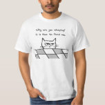Angry Cat Wants You Out of Bed T Shirt
