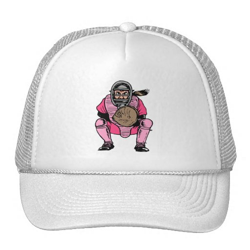 Angry Catcher Trucker Hat