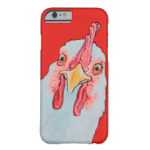 Angry Chicken in red Barely There iPhone 6 Case