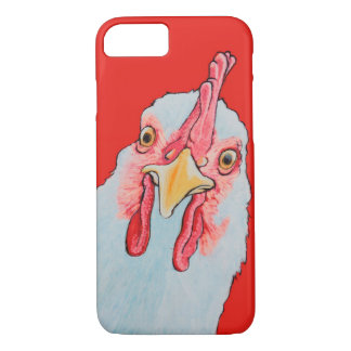 Angry Chicken in red iPhone 7 Case