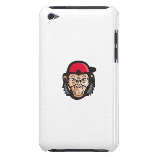 Angry Chimpanzee Head Baseball Cap Retro iPod Case-Mate Case