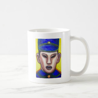 Angry Chinese Police Officer (portrait painting) Coffee Mug