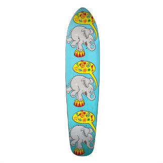 Angry circus elephant saying bad words skateboard deck