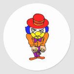 Angry Clown Round Sticker