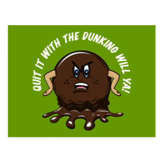 Angry Cookie Postcard