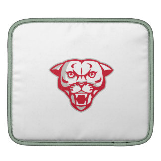 Angry Cougar Mountain Lion Head Retro Sleeve For iPads