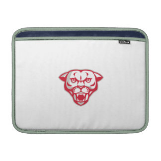 Angry Cougar Mountain Lion Head Retro Sleeve For MacBook Air