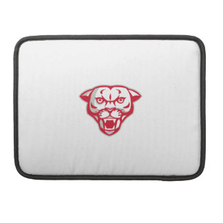 Angry Cougar Mountain Lion Head Retro Sleeves For MacBook Pro