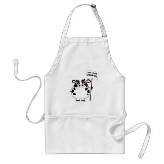 ANGRY COW (Eat more veggies) Adult Apron