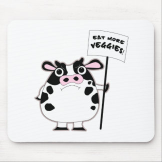 ANGRY COW (Eat more veggies) Mouse Pad