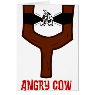 Angry Cow Greeting Card