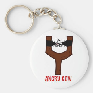 Angry Cow Key Chains