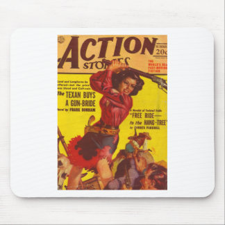 Angry Cowgirl Mouse Pad