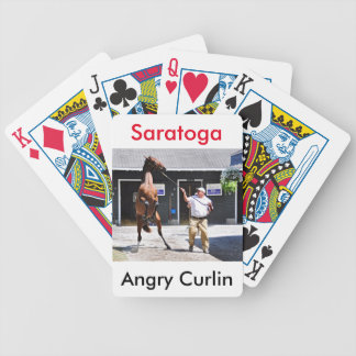 Angry Curlin Baby Bicycle Playing Cards