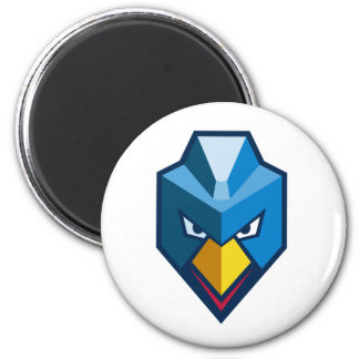 Angry Cyberpunk Chicken Icon Magnet
