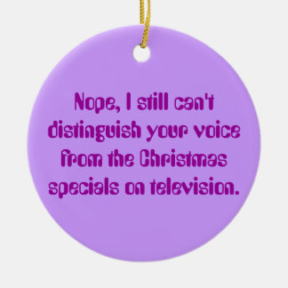 Angry Deaf: Xmas Television and Deaf Awareness Ceramic Ornament