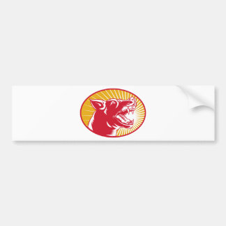 Angry Dog barking side view Bumper Sticker