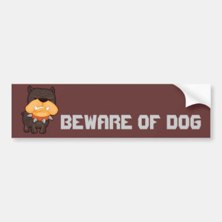 Angry Dog Car Bumper Sticker
