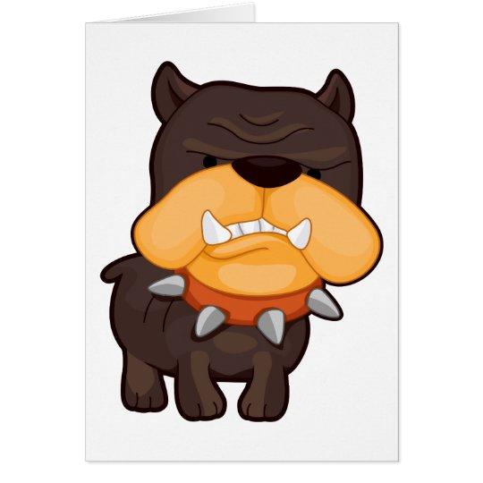 Angry Dog Card