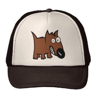 Angry dog cartoon trucker hat