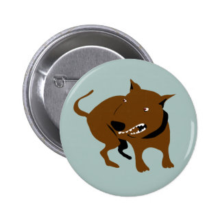 Angry Dog  Funny Bad Mood Warning Button