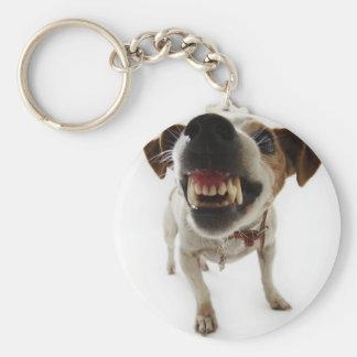 Angry dog key chains