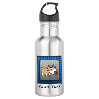 Angry Dog; Metal-look Water Bottle
