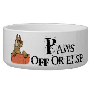 Angry Dog Paws Off Dog Dish
