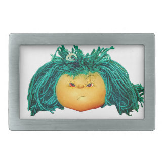 Angry Doll Rectangular Belt Buckle