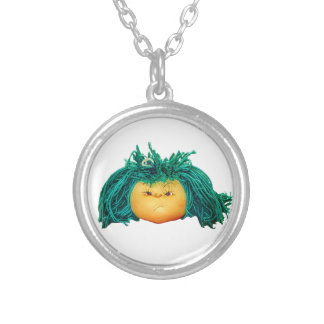 Angry Doll Silver Plated Necklace