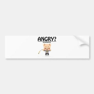 Angry? Dragon Piggy part1 Bumper Sticker