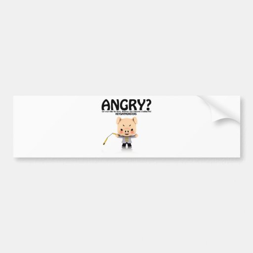 Angry? Dragon Piggy part1 Bumper Stickers