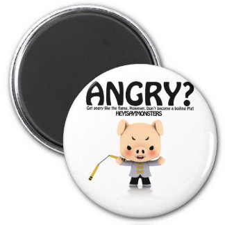 Angry? Dragon Piggy part1 Magnet