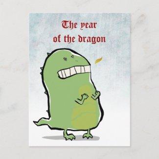 angry dragon zazzle_postcard
