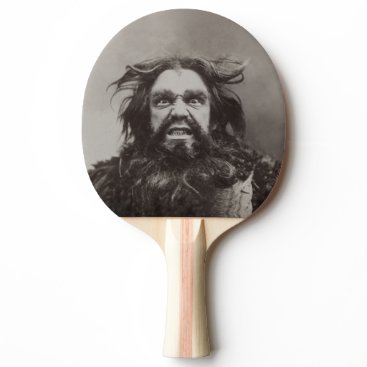 Professional Business Angry Dude (Printed 2 Sides / More Options) - Ping-Pong Paddle
