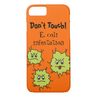 Angry E. coli germs Funny iPhone 8/7 Case