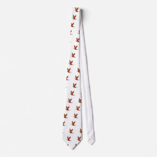 Angry Eagle Flying Cartoon Neck Tie
