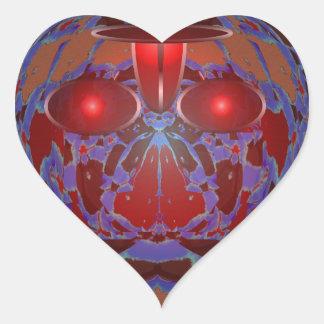 ANGRY Earth Eyes Environment War Crimes Hunger 101 Heart Sticker