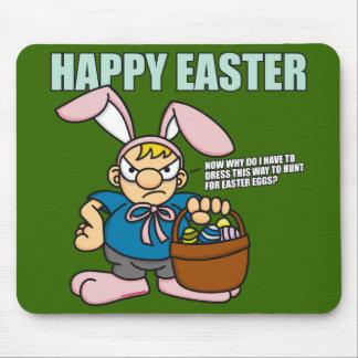 Angry Easter Boy Mousepad