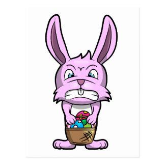 Angry Easter Bunny Postcard