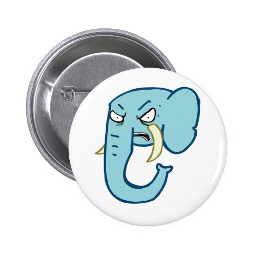 Angry Elephant Pin