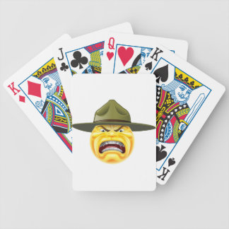 Angry Emoji Emoticon Drill Sergeant Bicycle Playing Cards