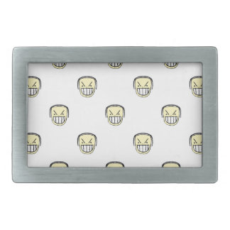 Angry Emoji Graphic Pattern Rectangular Belt Buckle