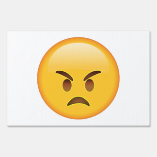 Angry - Emoji Lawn Sign