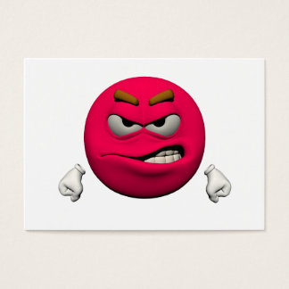 Angry emoticon business card