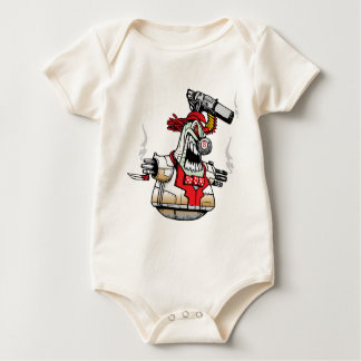 Angry Evil Robot Baby Bodysuit