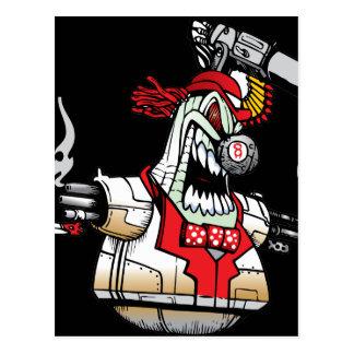Angry Evil Robot Postcard