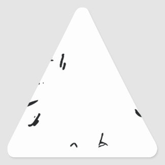 Angry Eyes 1 Triangle Sticker
